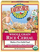 EARTHS BEST CEREAL WHLGRN RICE ORG, 8 OZ by Earth's Best