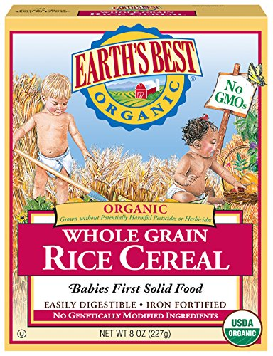 Earth's Best Organic Infant Cereal, Whole Grain Rice, 8 Oz - Packaging May Vary