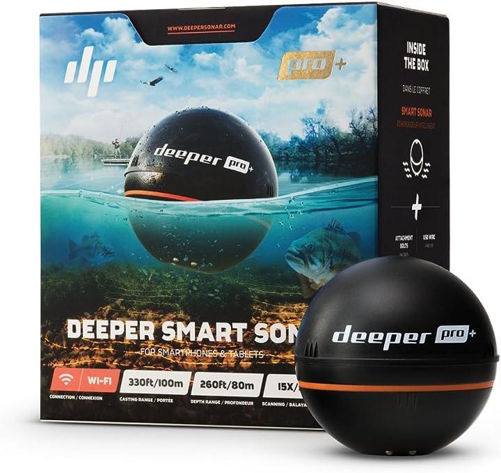 Fishfinder wireless wlan con gps integrato per i pescatori sulla riva deeper pro plus smart- trovapesci ITGAM0303