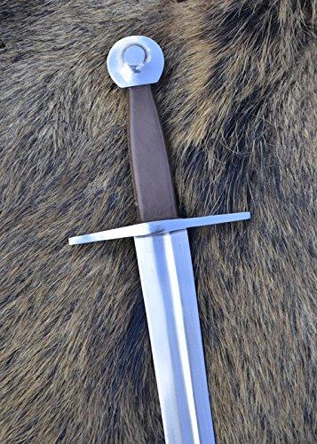 Battle-Merchant Mittelalterliches Einhandschwert, geschmiedet, für leichten Schaukampf Echtes Schwert Metall Erwachsene