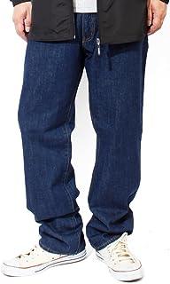 (ヘインズ)Hanes デニムパンツ メンズ 大きいサイズ ブリーチ インディゴ レギュラー ストレート ジーンズ 5ポケット ジーパン