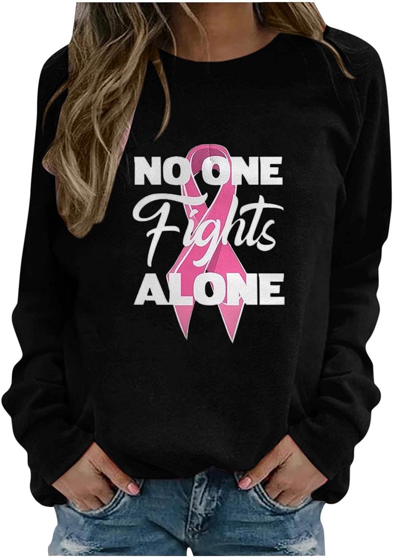 Girls Pink Tops Casual Loose Tee Women Cute Pullover Letter Printed Blouses Long Sleeve Sweatshirt