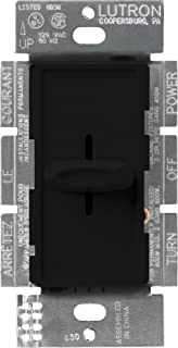 Lutron Skylark Dimmer Switch for Incandescent and Halogen Bulbs, Single-Pole, S-600-BL, Black