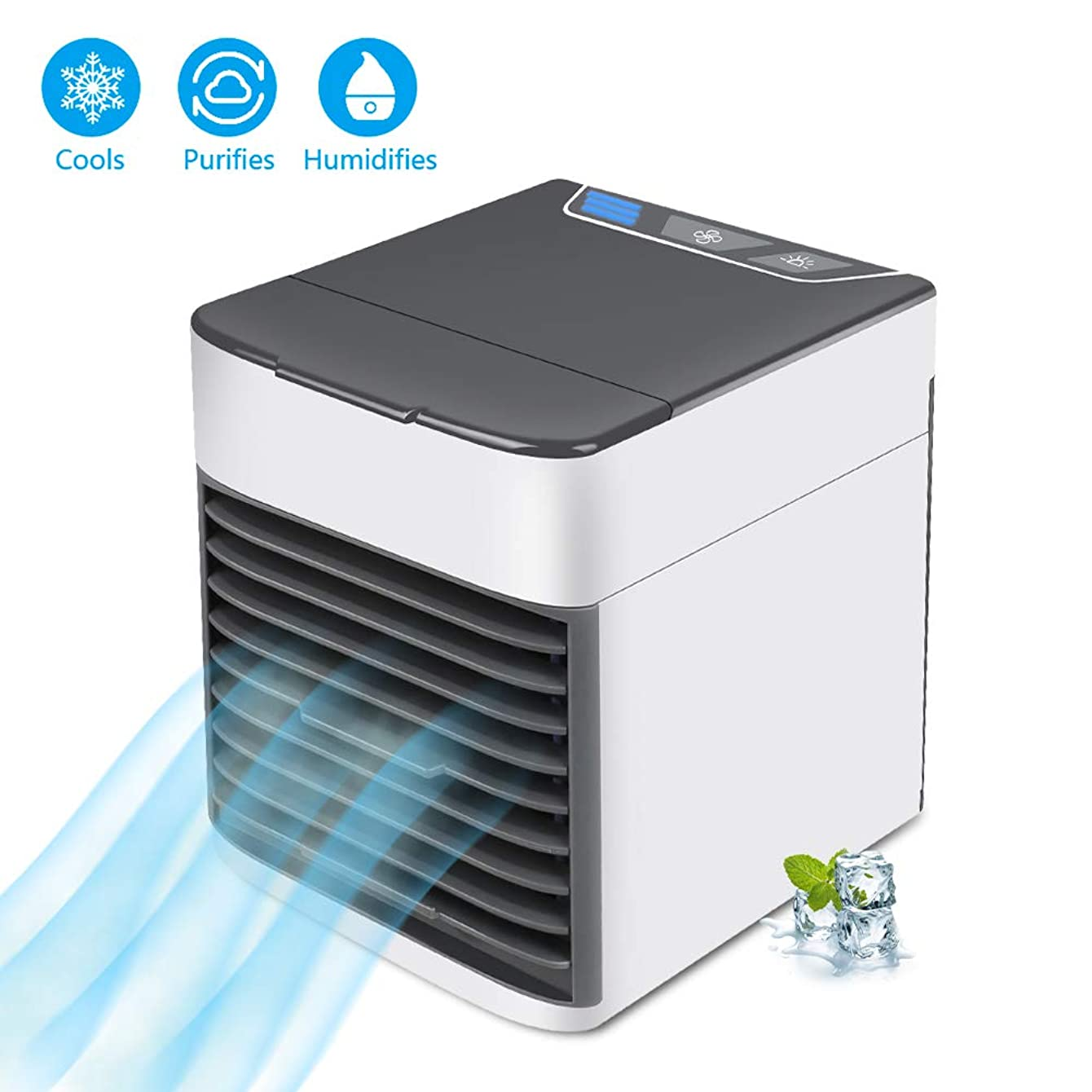 【Upgrade】 Sunis Air Cooler Ultra Mini USB Fan Air Conditioner Portable Arctic Air Freeze