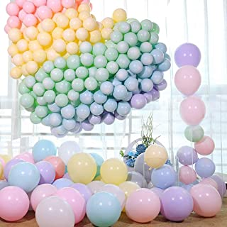 Mumoo Bear 100pcs Pastel Latex Balloons 10 Inches Assorted Macaron Candy Colored Latex Party Balloons for Wedding Graduati...