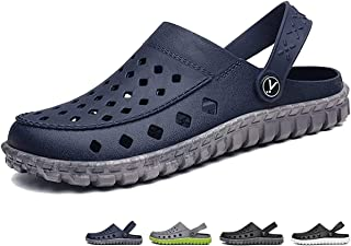 beister Mens Garden Clogs Mules, Anti-Slip Water Shoes Breathable Sandals Slippers Outdoor, Beach, Shower