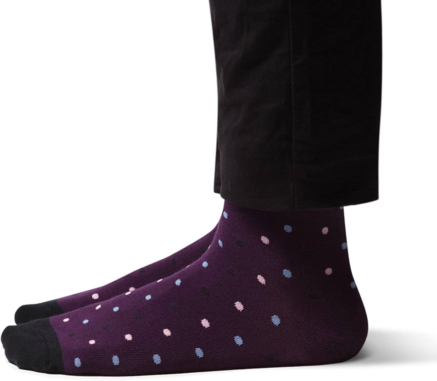 PREMIUM REINFORCED Crew Length Men's Dress Socks - Great for Mardi Gras, Valentine's Day, St. Patrick's Day and more