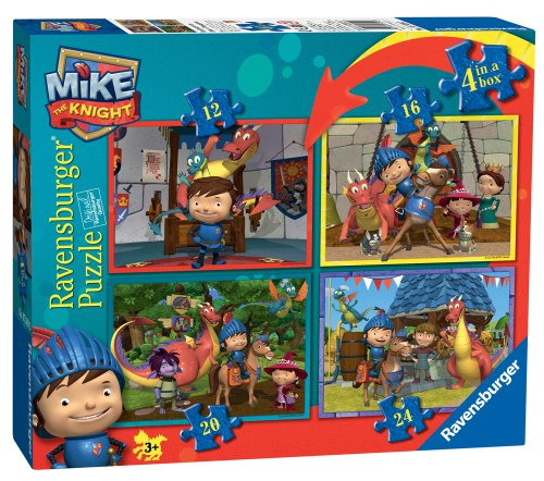 Mike the Knight - Life with Mike - 4 Puzzles in a Box (12, 16, 20, 24 PCs)