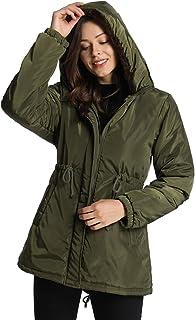 iloveSIA Womens Winter Warm Parka Coat Windbreaker Hooded Jacket