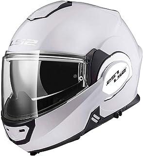 Blanco XS LS2 FF325 Cascos modulares de Moto DVS Motocicleta Bicicleta 53-54cm