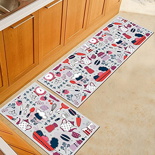 OPLJ Alfombrillas de Cocina de Estilo Europeo, Alfombrillas de Ducha de impresión 3D, Alfombrillas para Puertas, alfombras de baño, Alfombrillas para Puertas Interiores A5 40x60 cm