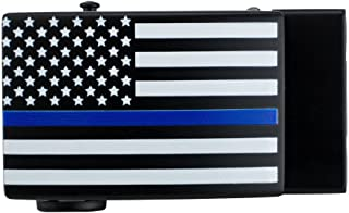 New Go-in! Thin Blue Line USA Shield Golf Belt Buckle w/Ball Marker