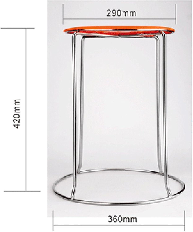 Xiaolin Stool Stool Adult Plastic Stool Bar Stool Round Stool Thickened Bench Office Iron Art Stool