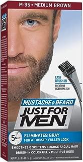 JUST FOR MEN Color Gel Mustache & Beard M-35 Medium Brown 1 ea (Pack of 2)
