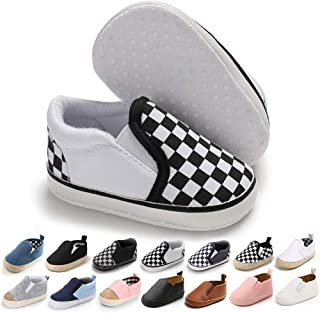 Infant Baby Girls Boys Canvas Shoes Soft Sole Toddler Slip On Newborn Crib Moccasins Casual Sneaker Austin Boy's Flat Lazy Loafers First Walkers Skate Shoe