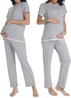 Ritera Women Maternity Nursing Pajamas Set Sleepwear Soft for Pregnancy Breastfeeding Hospital PJS M-XXL