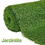 JARDINLIFE Cesped artificial MILAN (2X4 30MM) para Terraza, patio, balcón, piscina o perro