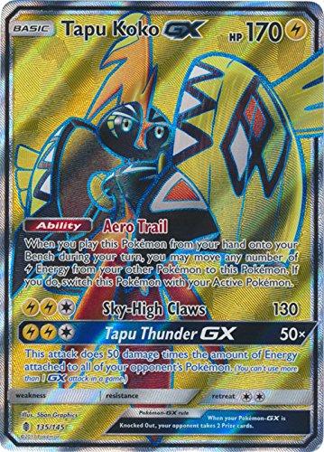 Pokemon - Tapu Koko-GX - 135/145 - Full Art Ultra Rare - Sun & Moon: Guardians Rising