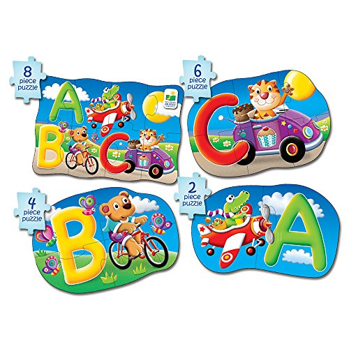 The Learning Journey My First 4-In-A-Box Puzzle - ABC - Educational Toddler Toys & Gifts for Boys & Girls Ages 2 & Up - Award Winning Puzzle, Multi