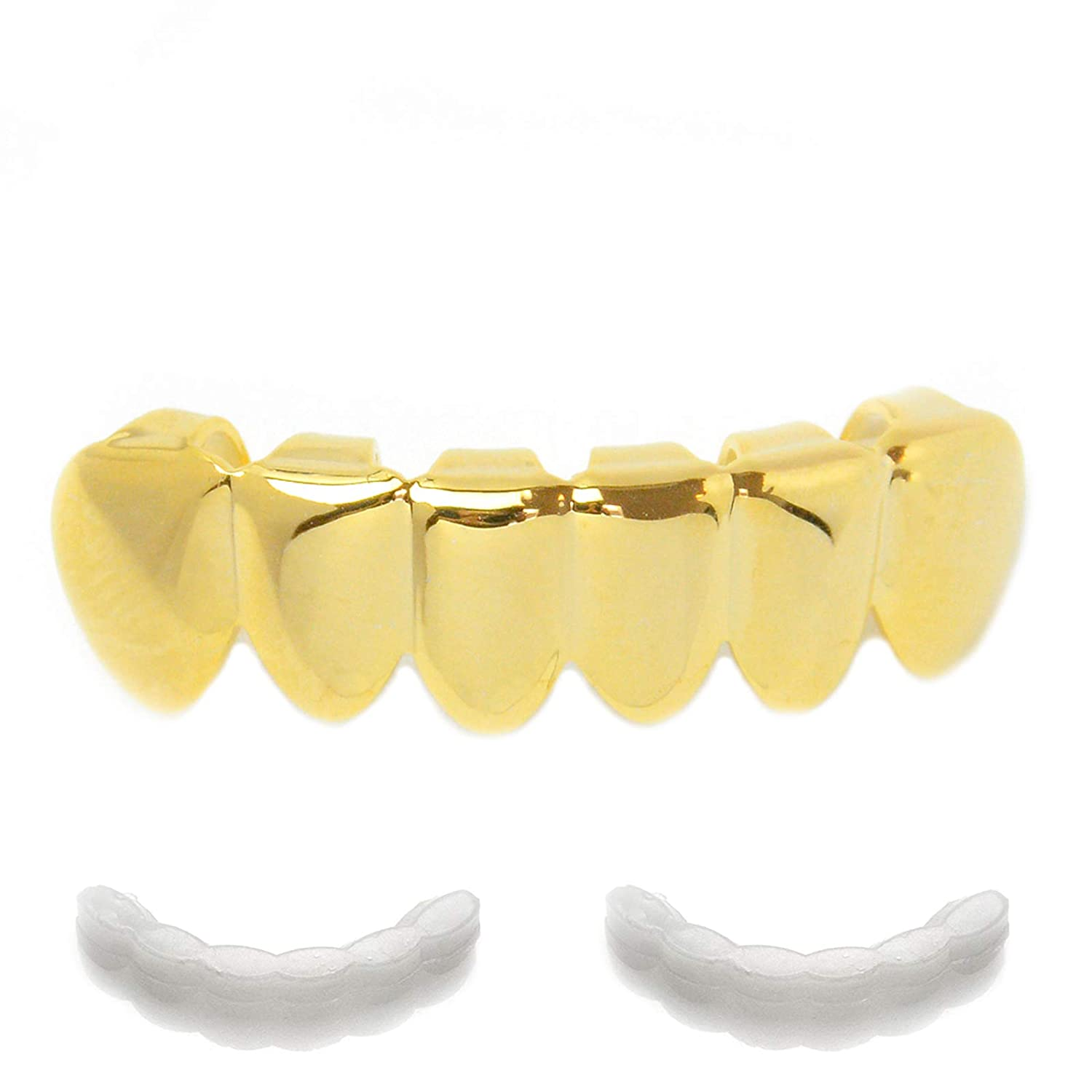 GRILLZ Plain Bottom Teeth with 2pc molding Made IN KOREA S 001 G