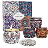 Scented Candles Gifts Set for Women, 4 Pack Aromatherapy Candles for Home Scented, Portable Soy Wax Jar Candle Sets, 16oz Travel Tin Candles for Stress Relief, Bath, Yoga, Spa, Birthday Gift for Her