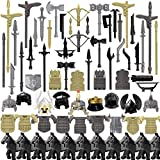 Tewerfitisme Juego de 78 figuras de armas militares, con escudo de casco, juego de armas medievales de estilo egipcio, compatible con Lego
