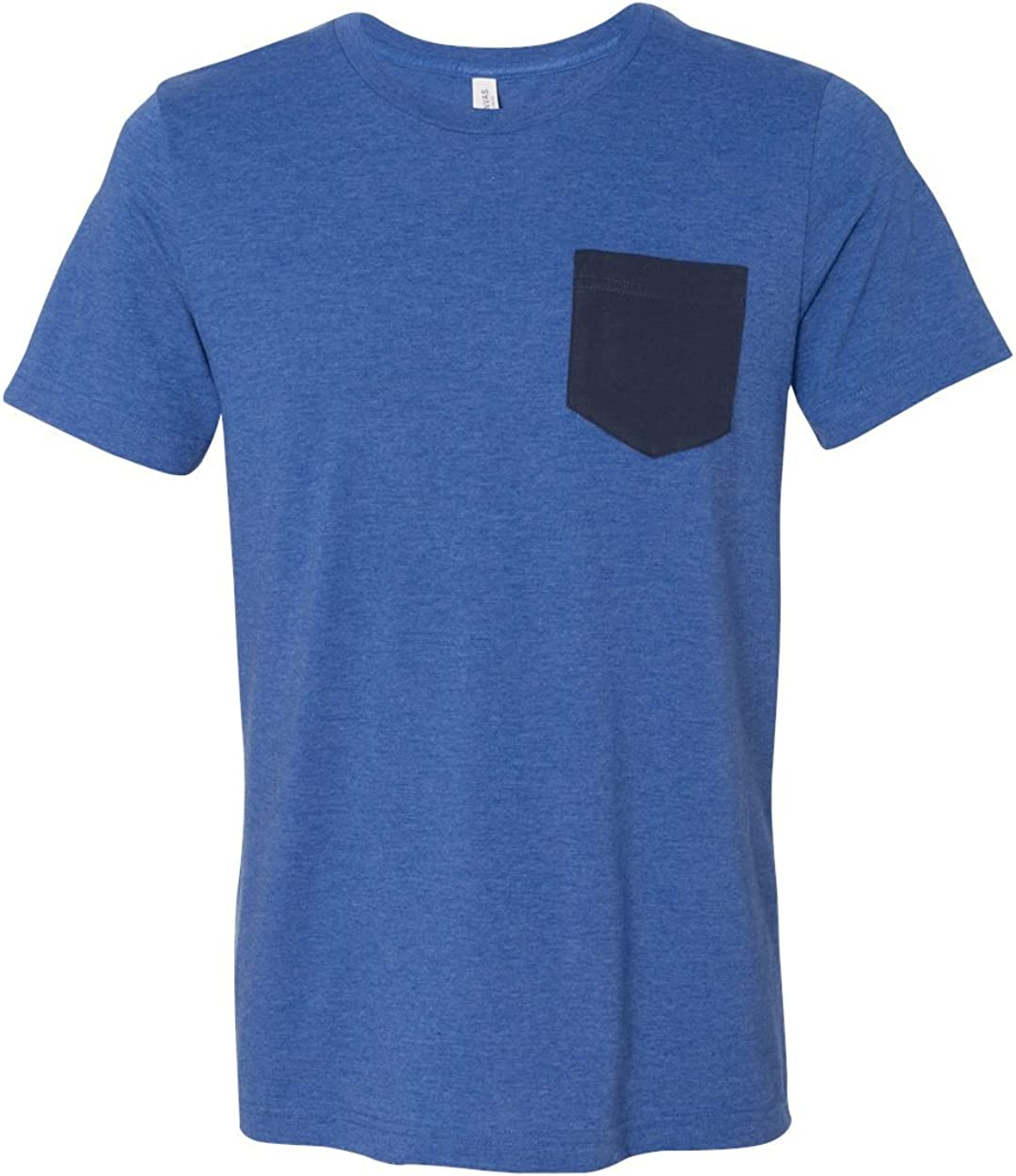 Bella + Canvas Men's Philadelphia Mall Pocket Short-Sleeve 4 years warranty T-Shirt Jersey