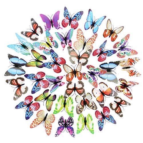 FBGood 100 lámparas de Mariposa - Mariposa Luminosa Simulada, luz Nocturna LED Creativa, Color Intermitente, Adecuado para habitación de niña, Juguetes de niños o Regalos