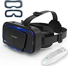 VR Headset Virtual Reality VR 3D Glasses VR Set 3D Virtual Reality Goggles,Adjustable VR Glasses Support 7.2 Inches [with ...