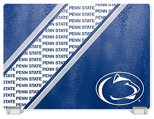 NCAA Penn State Nittany Lions Tempered Glass Cutting Board with Display Stand