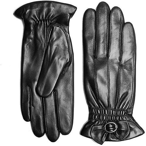 GANTS XUERUI Femme Mitaine Doigt Complet écran Tactile Hiver Chaleureux Doux épais Accessoires (Couleur   Noir, Taille   S)