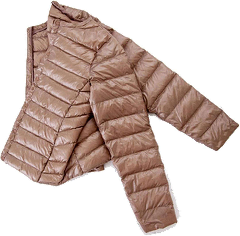 Don't mention the past Autumn UltraThin Women's Round Neck Short Paragraph Light White Duck Down Large Down Jacket