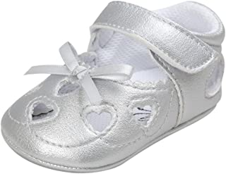 Weixinbuy Baby Girl's Heart Hollow Non-Slip Soft Princess Crib Shoes Moccasins
