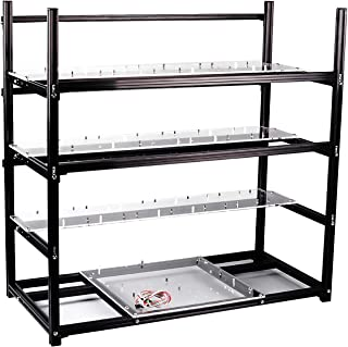 19 GPU Open Air Frame Mining Rig, Stackable Aluminium Mining Rig Case, Rig Case for Ethereum Mining Rig ETH BTC XMR Chassi...