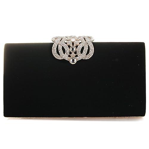 e63a91bf0b Black Evening Clutch Bags  Amazon.co.uk