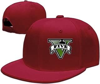 Jiandanwish GTA Five Logo Adjustable.Fitted Flat Baseball Cap