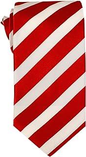Remo Sartori - Cravatta in Pura Seta a Righe Regimental Bianche e Rosse, Made in Italy, Uomo