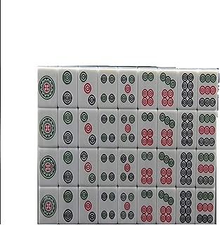 Hexiansheng Panda Mahjong Traditional  Chinese Version Game Set Portable Acrylic Material Mah-Jongg Travel Family Leisure Time 144 Tiles Blue ( Size : 42( 423222mm) )
