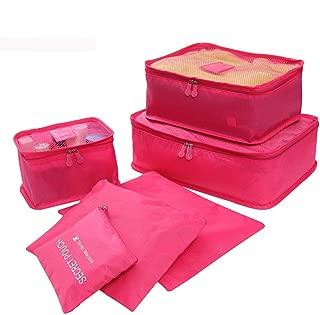 Cimaybeauty Ultra Light 6 Piece Packing Cubes Travel Luggage Organizers Laundry Bag Travel Storage Bag Clothes Bag Travel Underwear Storage Box