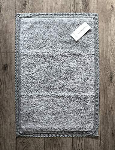 Uno Casa Badteppich Badematte 'Lace' 50 x 80 cm eisgrau Baumwolle Landhaus Shabby