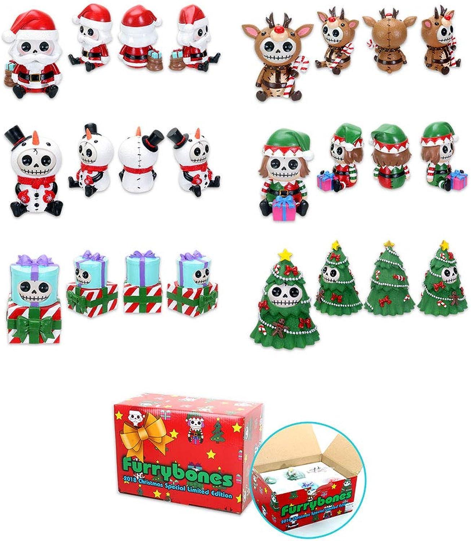 YTC Furrybones 2018 Limited Edition Christmas Figurine Set