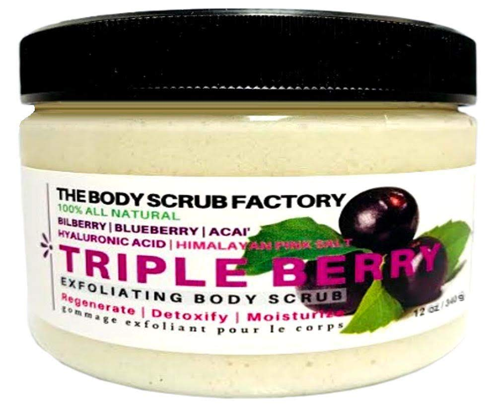 THE BODY All stores Popular products are sold SCRUB FACTORY BERRY TRIPLE EXFOLIATING