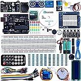 ELEGOO UNO R3 Starter Kit kompatibel mit Arduino IDE Projekt Einsteigerset mit Tutorial auf Deutsch, UNO R3 Mikrocontroller, 5V-Relais, Stromversorgungsmodul, Servomotor, Erweiterungsplatine usw.