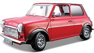 Bburago 1969 Old Mini Cooper Diecast Model Car (1/24 Scale), Red