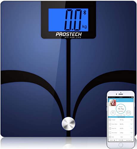 PROSTECH Smart Scales - Bluetooth Body Fat Analyser. Works with Apple Health for iPhone and Selected Android Devices....