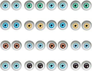 50 Pairs 6mm Glass Dome Human Eyes for Art Dolls Sculptures Props Masks Fursuits Taxidermy Jewelry Making Flatback