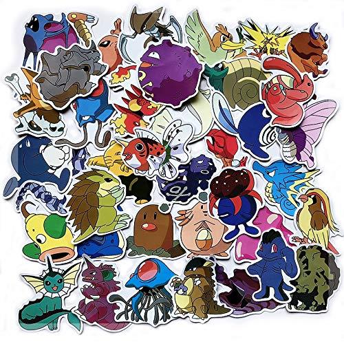 Juego 17 pegatinas 17 unids pokemon toy graffiti sticker skateboard teléfono móvil autocollant tablet computer Pikachu pegatinas