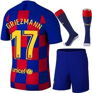 New Kids/Youth Barcelona Home 17 Griezmann 2019/2020 Season Soccer Jersey