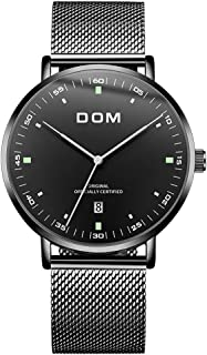 Men's Watches Fashion Ultra Thin Wrist Watches for Men...