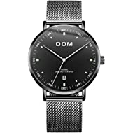 Men's Watches Fashion Ultra Thin Wrist Watches for Men Waterproof Date Analog Dress Watch with...